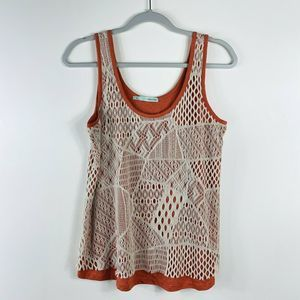 Maurices Orange Tan Layered Lace Front Tank Top